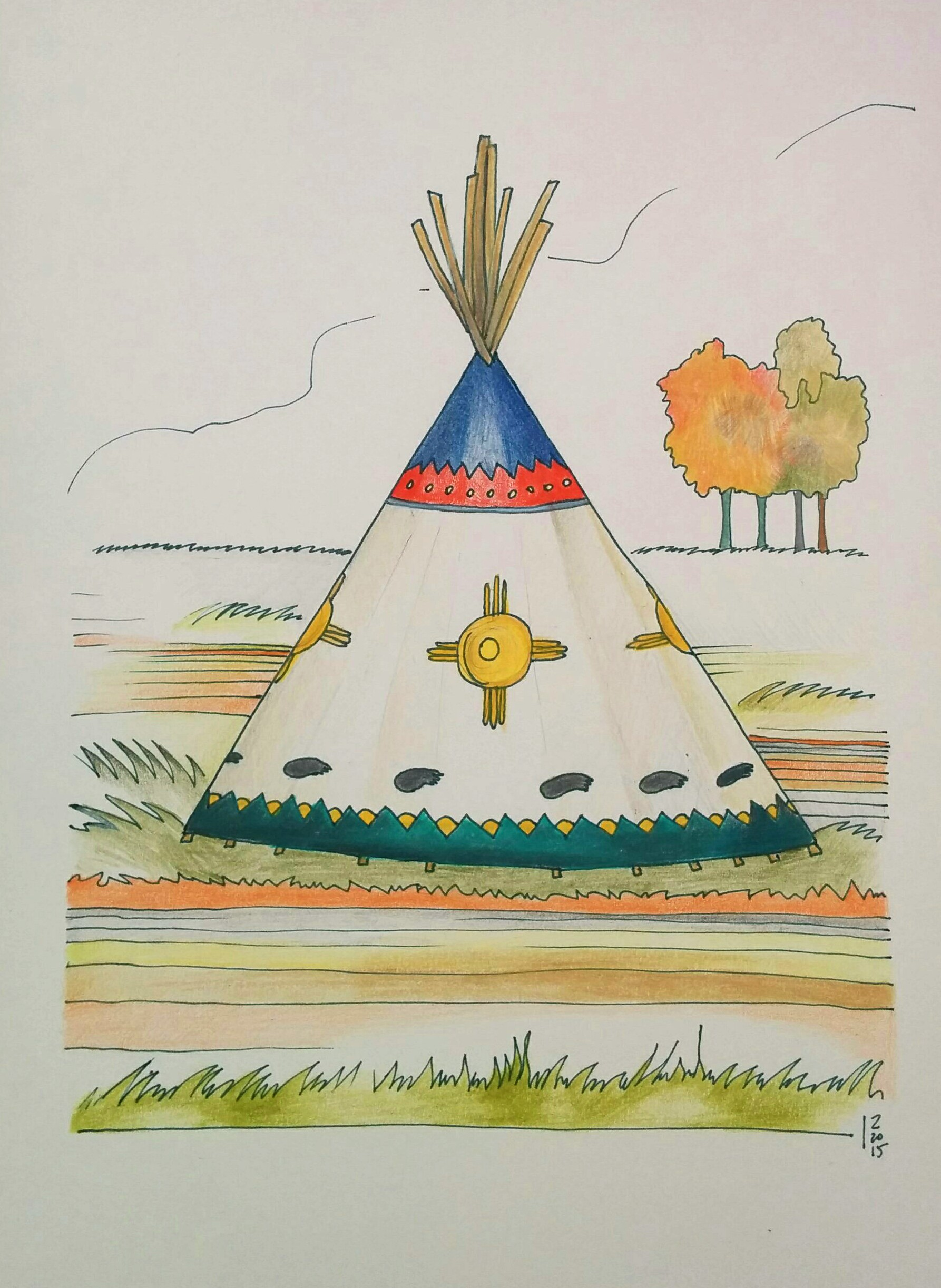 Teepee  in Autumn